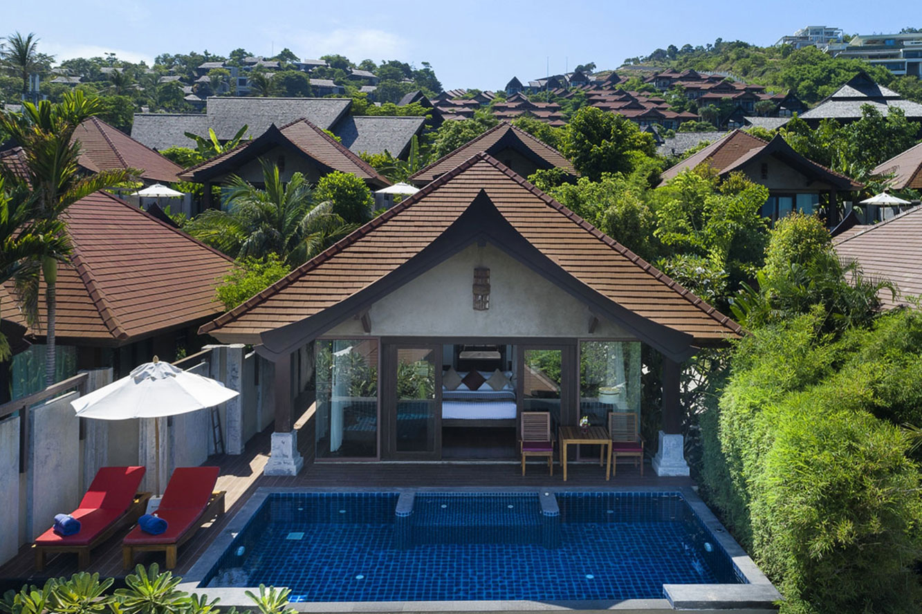 beachside pool villa samui